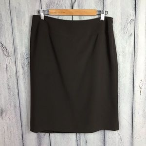 Talbots 10 P Petite Skirt with back Pleat Brown
